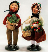 Byers Choice Holiday Greens Family Boy And Girl Carolers - Free Shipping