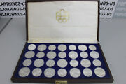 1976 Canadian Montreal Olympics 28 Coin Silver Proof Set