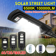 Wall Street Light Solar Panel Outdoor Garden Lamp+remote Control 180led 200w