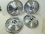 1964 Corvair Monza Spyder Spider Hub Caps 13 Stainless Set Of 4  - H311