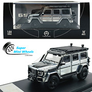 Time Micro 164 Brabus Mercedes-benz G550 Metal Unpainted Silver Limited 500