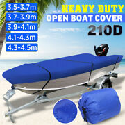 11.5and039 - 14.8and039 Heavy Duty Open Boat Cover Trailerable Fishing Runabout
