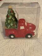 New Old Red Truck With Christmas Tree Salt And Pepper Shakers Farmhouse Table Set