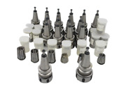 Lot Of 31 Atlas Cnc Tool Holders With Collets