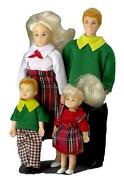 Dolls House Family Of 4 People Mum Dad Little Girl And Boy Miniature 112 Scale