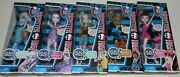 2012 Set Of 5 Monster High Dead Tired - Abbey Spectra Lagoona Robecca Draculaura