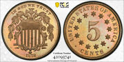 1878 5c Proof Shield Nickel Pcgs Pr 66 High End Key Date Attractively Toned C...