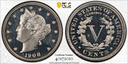 1908 5c Liberty Head Nickel Pcgs Pr 65 Cam Cac Approved Looks Dcam Nice