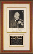 Dwight D. Eisenhower - Inscribed Photograph Signed