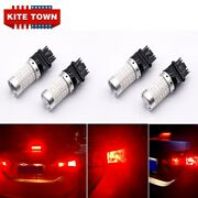 4x Led Brake Stop Tail Lights 3157 3057 Red For Chevy Silverado 1500 1999-2013