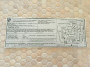 Porsche Official 911 Turbo Series Emissions Sticker 49 State Cars 1988 Nos