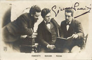 Giacomo Puccini - Picture Post Card Signed 10/13/1908