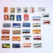 Vintage Collection Of Stamps From Germany -vehicles Music Instruments And Chess