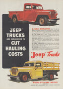 Engineered To Cut Hauling Costs - Jeep Trucks Willys-overland Ad 1948 T