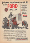 Never A Tractor To Match This New Ford Golden Jubilee Model Ad 1953