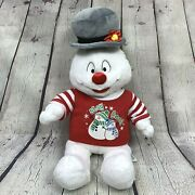 Build A Bear Frosty The Snowman Plush With Stay Cool T Shirt Outfit 2009 Hat
