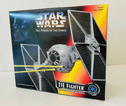 New 1995 Star Wars Power Of The Force Tie Fighter W/ejecting Solar Panel Wings