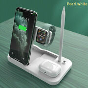 For Apple Watch Iphone 4in1 Fast Charger Qi Wireless Charging Station For Airpod