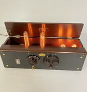 Vintage Art Deco Atwater Kent Md 30 Tube Radio Steampunk Industrial Table Lamp