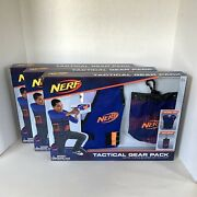 Set Of 3 Brand New In Box Nerf Blue Tactical Vest And Dart Pouch Gear Packs
