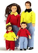 Dolls House Modern Family Of 4 People Mum Dad Children Miniature 112 Scale