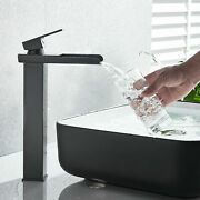 Bathroom Sink Faucet One Hole Waterfall Farmhouse Mixer Tap Oil-rubbed Bronze