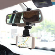 Universal Car Rear-view Mirror Cell Phone Mount Stand Holder Cradle Accessories
