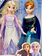 Disney Frozen Ii Queen Anna And Elsa The Snow Queen 2 Doll Gift Set Nrfb Mib New