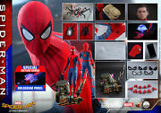 Dhl 1/4 Hot Toys Qs014b Spider-man Homecoming Peter Parker Exclusive Version