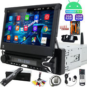 Single 1 Din Car Stereo Radio Android 10 Gps Detachable Head Unit Dvd Player Ccd