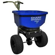 Salt And Ice Melt Spreader Broadcast Professional Outdoor Lawn Garden 100 Lbs.