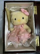 Hello Kitty Andtimes Hermann Limited 500 Mohair Doll Pink Dress Plush 2000 Rare