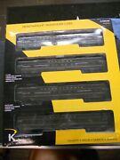 K-line K-4880b Prr 4-car 15and039and039 Heavyweight Passenger Cars 4 Pack O Gauge