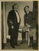 1933 Press Photo Colonels William Taylor And Kenneth Townson Meet In Troy, Ny