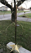 """Rare Department 56 28"""" Metal Ornament Display Tree With A Star Base. Gold Tone."""