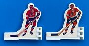 Coleco 1970's Single White Plastic Chicago Blackhawks Table Hockey Game Players