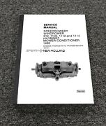 Sperry New Holland 1112 1114 Windrower Cessna Transmission Service Repair Manual
