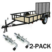 Spring Pin Latch Lock Heavy Duty Assembly For Utility Trailer Gate Loaded 2-pack