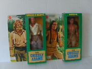 Mattel Grizzly Adams And Nakoma 9 Action Figure Doll New In Box 1978