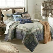 Country Primitive Reversible Pine Boughs Cabin Donna Sharp Comforter Collection