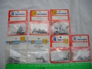 Lot Of 7 Walthers Assorted Passenger Car Metal Detail Vents, O-27 Gauge O Scale