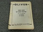 Oliver Models 90 99 900 Agricultural And Industrial Tractors Parts Catalog Manual