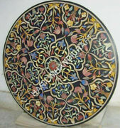 30 Marble Black Coffee Table Top And Free Kitchen Serving Plate Inlaid Arts Decor