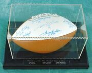 Hall Of Fame Football - Football Signed With Co-signers