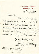 Henry M. Stanley - Autograph Letter Signed 11/29/1895