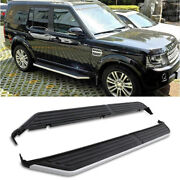 Black Running Board Side Steps Rails For Land Rover Discovery 3 4 L319 04-16