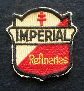 Imperial Embroidered Patch Refineries Gas Oil Uniform Collectible 2 1/4 X 2 1/2