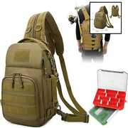 Ylinsha Fishing Backpack Tackle Equipped W Two Combinable Boxes Light Bag Suitab