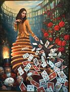 Nothing But A Pack Of Cards By Michael Cheval