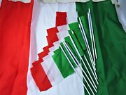 Flags Of Italy Tri-color 9 Small Hand Held 1 Large Green Red White Home Garden